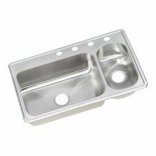 """Dayton 33"""" x 22"""" Elite Top Mount Double Bowl Kitchen Sink"""