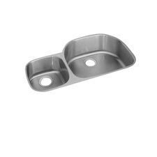 "<strong>Elkay</strong> Lusterone 36.25"" x 21.13"" Harmony Undermount Double Bowl Kitchen Sink"