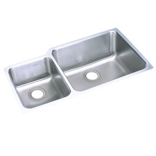 "<strong>Elkay</strong> 35.25"" x 20.5"" Undermount Double Bowl 18 Gauge Kitchen Sink"