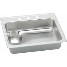"""Lustertone 25"""" x 22"""" Single Bowl Kitchen Sink with Waste Drain"""
