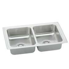 "Pacemaker 33"" x 19.5"" Pacemaker Double Bowl Kitchen Sink"