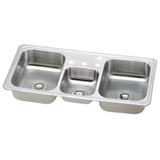"Gourmet 18"" x 13.5"" Top Mount Kitchen Sink"