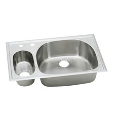 "Harmony 33"" x 22"" Top Mount Kitchen Sink"