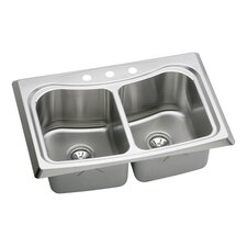 "Echo 33"" x 22"" Top Mount Kitchen Sink"