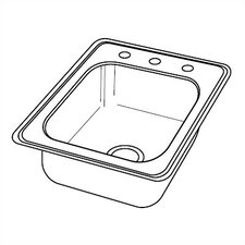 "Dayton 17"" x 19"" 22 Gauge Top Mount Kitchen Sink"