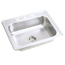 "Dayton 25"" x 22"" Single Bowl Top Mount Kitchen Sink"