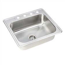 "Dayton 25"" x 22"" Elite Single Bowl Kitchen Sink"