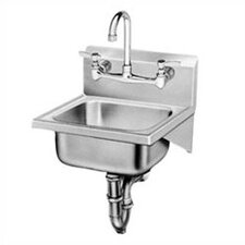 "Wall Mounted 17"" x 16"" Laundry Sink with Faucet"