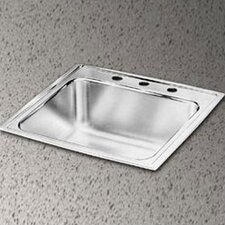 "<strong>Elkay</strong> Lustertone 20"" x 17"" Extra Deep Self-Rimming Kitchen Sink"