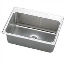 "Lustertone 31"" x 22"" Gourmet Extra Deep Single Kitchen Sink"