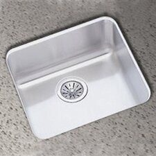 "<strong>Elkay</strong> Lustertone 17.5"" x 17.5""  Single Bowl Undermount Square Kitchen Sink"