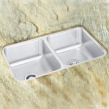 "30.75"" x 18.5"" Double Bowl Undermount Kitchen Sink with Reveal Rim"
