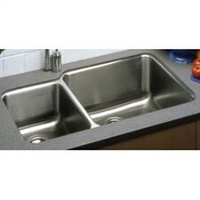 "35.25"" x 20.5"" Undermount Double Bowl 18 Gauge Kitchen Sink"