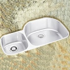 "36.25"" x 21.13"" Undermount Double Bowl Kitchen Sink with Reveal Rim"