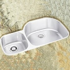 "Lusterone 36.25"" x 21.13"" Harmony Undermount Double Bowl Kitchen Sink"