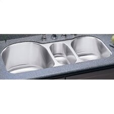 "39.5"" x 20"" Undermount Triple Bowl Kitchen Sink"
