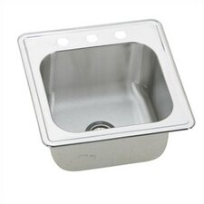 "<strong>Elkay</strong> 20"" x 20"" Self Rimming 3-Hole Single Bowl Kitchen Sink"