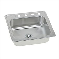 "Gourmet 25"" x 22"" Self Rimming 3-Hole Single Bowl Kitchen Sink"