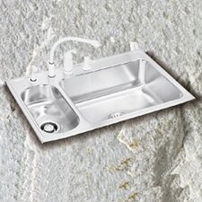 "Lustertone 33"" x 22"" Double Bowl Kitchen Sink"