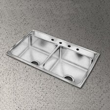 "Pacemaker 33"" x 19.5"" Double Bowl Kitchen Sink"