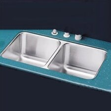 "<strong>Elkay</strong> 31.75"" x 16.5"" Double Bowl Undermount Kitchen Sink with Reveal Rim"