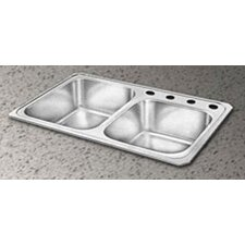 "Celebrity 33"" x 22"" Double Basin Kitchen Sink"