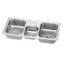 "Celebrity 43"" x 22"" Gourmet Three Bowl Kitchen Sink"