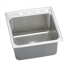 "Lustertone 19"" x 22"" Gourmet Single Bowl Kitchen Sink"
