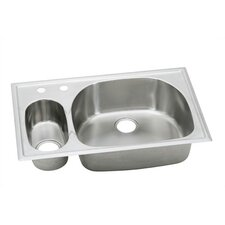 "Harmony 33"" x 22"" Dual Bowl Kitchen Sink"