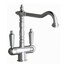 Victoria Double Handle Centerset Cold / Hot Water Dispenser Kitchen Faucet with Lever Handle