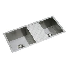 "Avado 40"" x 18.5"" Double Mutli-Sized Bowl Kitchen Sink with Work Area"