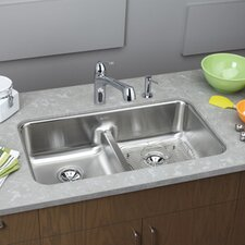 "Gourmet 32.06"" x 18.5"" x 8"" Undermount Kitchen Sink"