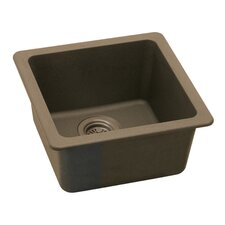 "<strong>Elkay</strong> Gourmet 15.75"" x 15.75"" E-Granite Universal Mount Single Bowl Kitchen Sink"