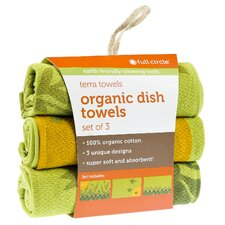 Morning Bloom Organic Cotton Dish Towel (Set of 3)