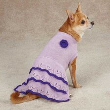 Pointelle Knit Dog Dress