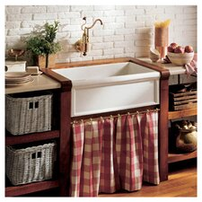 "Luberon 30"" x 19"" Fireclay Apron Front Farmhouse Kitchen Sink"