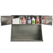 Deluxe Stainless Steel Overhead Pet Tub Cabinet