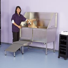 "48"" Superior Stainless Plumbed Dog Tub"