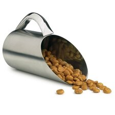 Stainless Steel Dog Food Scoop in Matte Finish