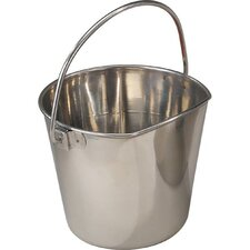 Stainless Steel Flat Sided Pet Pail