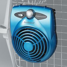 Pet Thermostatic Crate Fan in Ice Blue