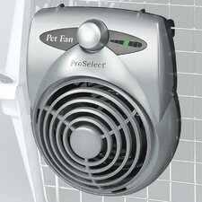 Standard Pet Crate Fan in Silver