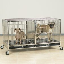 Modular Pet Cage in Stainless Steel