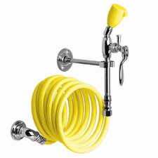 Eyesaver Wall Mounted Drench Hose with Stay Open Valve