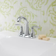 Brenta Double Handle Centerset Bathroom Faucet with Drain Assembly