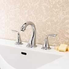 Marni Double Handle Widespread Bathroom Faucet with Drain Assembly
