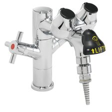 Eyesaver Eye Wash Faucet Combination Single Post Laboratory Faucet with Serrated Tip Outlet