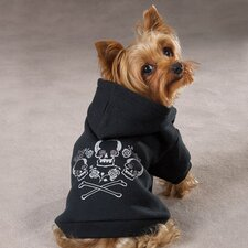 <strong>Zack and Zoey</strong> Crown Cross Bone Dog Hoodie