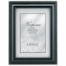 <strong>Lawrence Frames</strong> Wood Picture Frame with Silver Bead