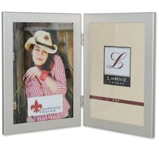 Black Hinged Double Picture Frame